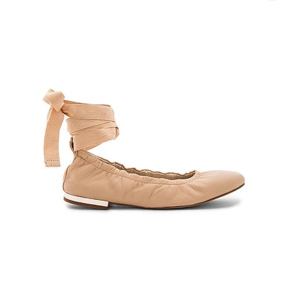 661a57fc6 SAM EDELMAN ~ Fallon nude ballet flats with ribbon.  M 5c678f5f5c4452bb5e6337be